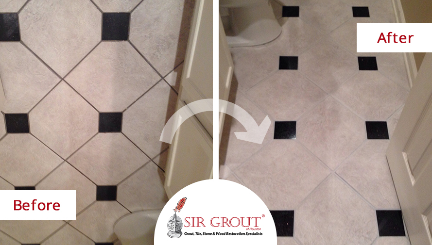 Multicolored Tile Floor in Houston Home Gets New Look With Grout ...