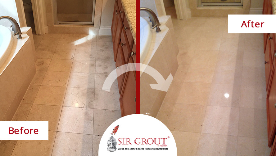 Stone Cleaning Refreshes This Houston Homeowneru0027s Grimy Shower And Marble Bathroom  Floor