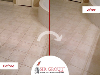 Tile Cleaning Service Revives Houston Homeowners Stained Master Bathroom