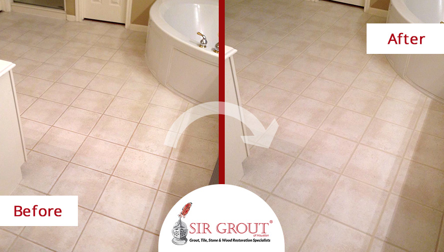 Tile Cleaning Service Revives Houston Homeowners Stained Master - Bathroom tile cleaning service
