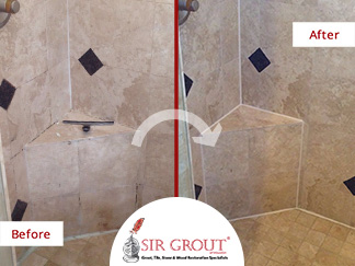 A Homeowner in Friendswood Texas Said Goodbye to Mildew in Her Bathroom Thanks to a Grout Cleaning Service
