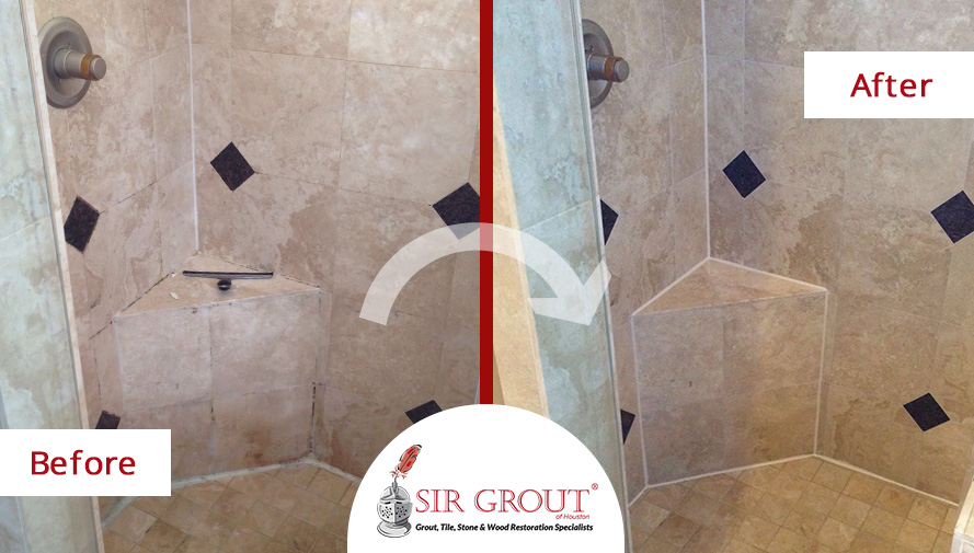 A Homeowner In Friendswood Texas Said Goodbye To Mildew In Her - Bathroom grout cleaning services
