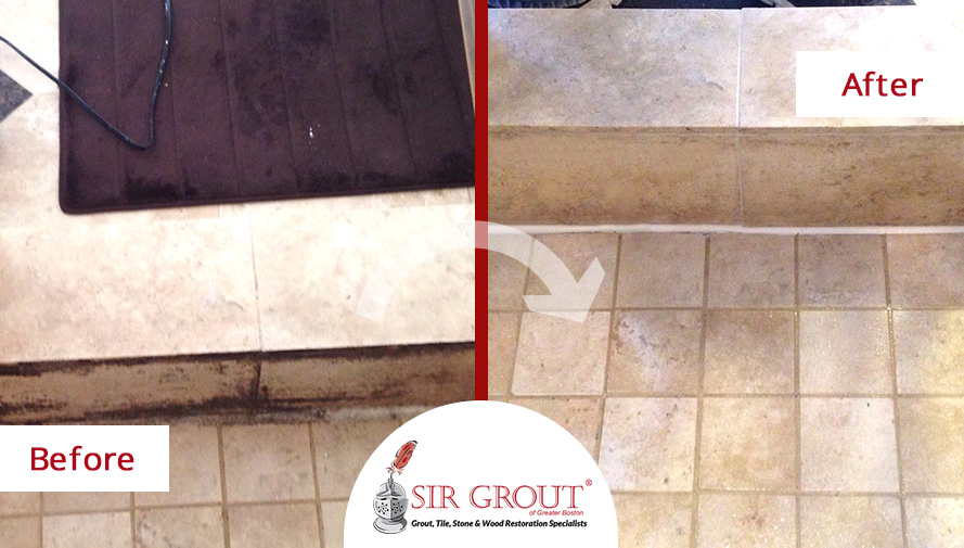 A Homeowner In Friendswood, Texas Said Goodbye To Mildew In Her Bathroom,  Thanks To A Grout Cleaning Service