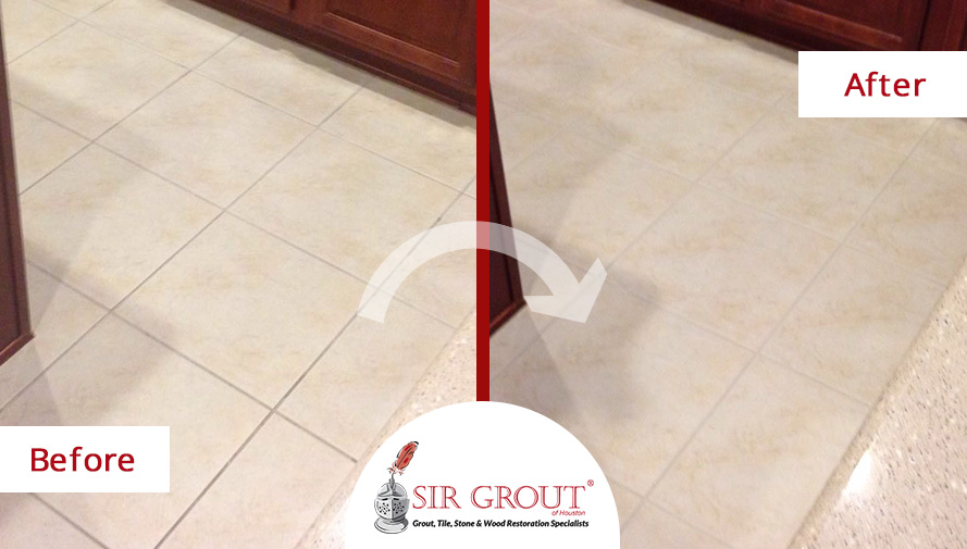 Before And After Pictures of a Complete Grout Sealing in Texas