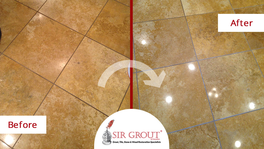 A Stone Polishing Service in Houston TX Helped This Marble Floor Go ...