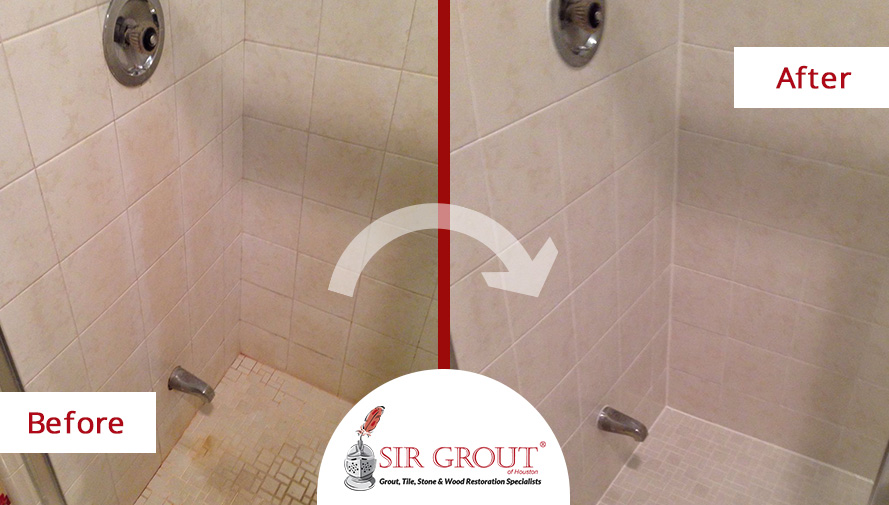 See How A Complete Grout Cleaning Service Helped This Home In Sugar - Bathroom grout cleaning services