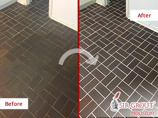 Our High-Quality Grout Recoloring Service in Houston, Tx, Renovated the Guest Area of This Home