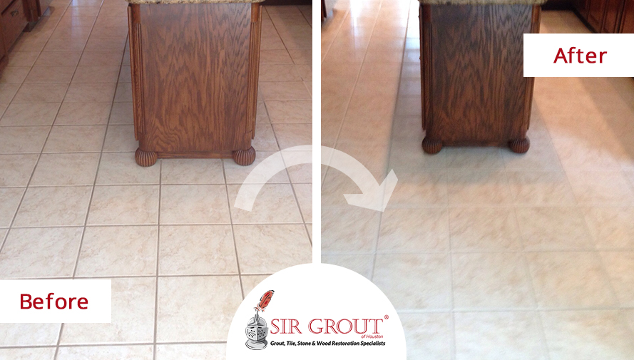 Grout Recoloring Revitalizes Faded Grout Lines of Montgomery Home