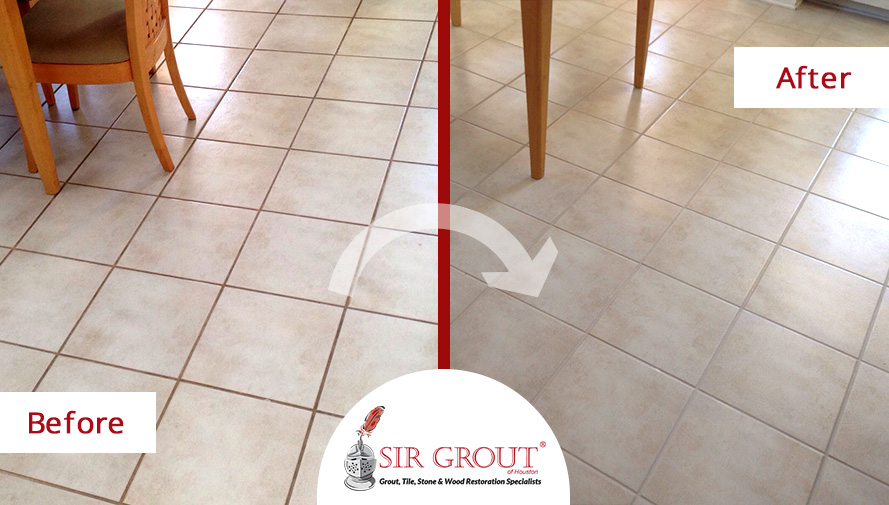 Beautiful Grout Sealing Job Revitalizes Customer's Kitchen in Sugar Land