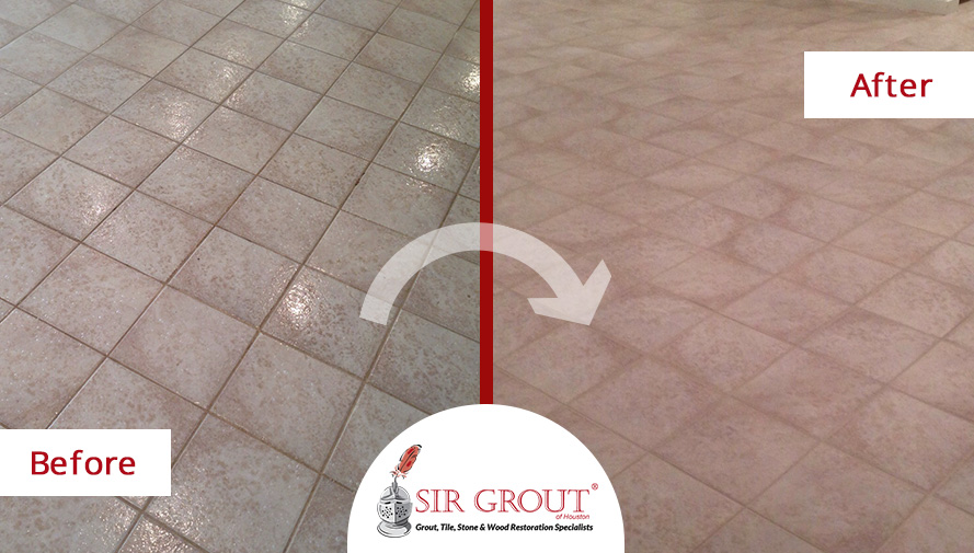 Grout Sealing Fixes Aging Floor of Houston Game Room